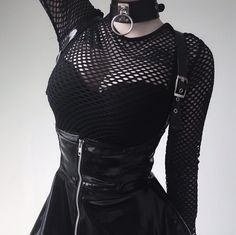 Alternative grunge style Model : Kibbi Pixel Instagram : kibbipixel #alternative #grunge #fashion #goth #choker