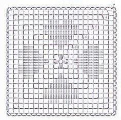 Filet Crochet Charts, Crochet Motifs, Crochet Blocks, Granny Square Crochet Pattern, Crochet Stitches Patterns, Crochet Diagram, Crochet Squares, Thread Crochet, Granny Squares