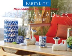 OHEMGEE!!! I cannot wait for the new Summer Line from Jonathan Adler. Exclusive designs for PartyLite. Let me show you how to get it for FREE. Anywhere in the U.S. 314-775-6822 www.partylite.biz/alvita