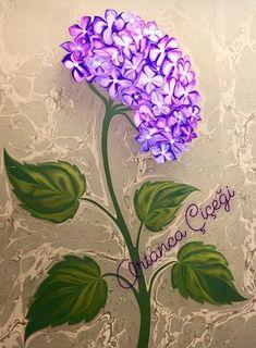 Ortanca Çiçeği- Hydrangea flower by Marbling Artist Firdevs Çalkanoğlu Marble Art, Fabric Painting, Painting, Turkish Art, Marbling Fabric, Art, Creative Drawing, Plum Art, Silk Art