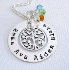 Mothers Day Jewelry  Tree of Life Family Tree by Patricia8Anderson, $65.50