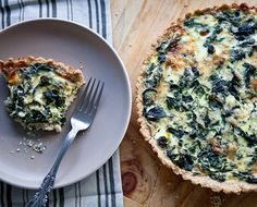 Recipe: Winter Greens & Gruyere Tart with a Cornmeal Millet Crust Recipes from The Kitchn | The Kitchn