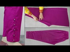 Capri Pants Capri Trouser Cutting And Stitching Easy Tutorial Sleeves Designs For Dresses, Dress Neck Designs, Blouse Designs, Sleeve Designs, Capri Trousers, Trouser Pants, Salwar Pants, Pants Tutorial, Stitching Dresses