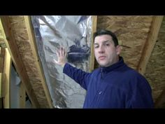 How To Install Radiant Barrier In A Cathedral Ceiling - YouTube