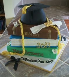 Awesome Graduation cake--will save this one for the college grad party!