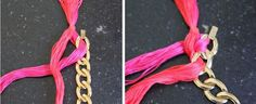 DIY Woven Chain Necklace | HelloNatural.co