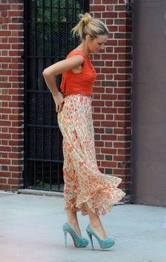 Gossip Girl Fashion Season 6. Blake Lively in Haute Hippie, Alice + Olivia, and Christian Louboutin