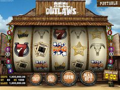 Reel Outlaws Retro Theme Slots Machine