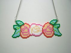 rose crown perler necklace