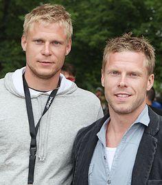Mikko+ Saku Koivu photo  finnish hockey players