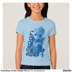 "Guardians of the Galaxy Vol. 2 | ""I Am Groot"" Blue T-Shirt"