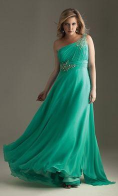 Chiffon A-line One Shoulder Long Evening Dresses FSAU1409P801873 - formalsydney.com