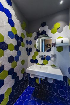 Home Tonalite Tiles – Tonalite Hexagon Tile Bathroom, Hexagon Tiles, Basement Bathroom, Master Bathroom, Honeycomb Tile, Farmhouse Style Decorating, Colorful Decor, Wall Tiles, Powder Room