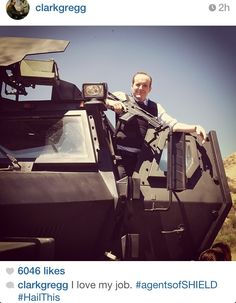 Agents of SHIELD finale Clark Gregg aka Coulson on Instagram