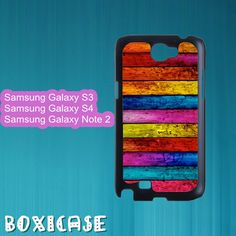 Colorful Wood--Samsung Galaxy S3 Case,Samsung Galaxy S4 Case,Samsung Galaxy Note 2 Case,in plastic by Boxicase, $15.95