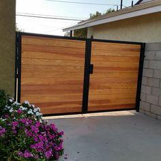 wood gate design horizontal - Google Search