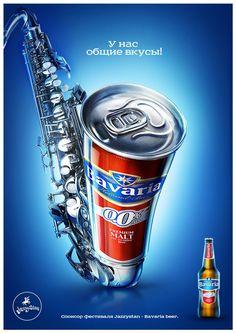 Bavaria beer sponsorship of Jazz Festival, by Sergey Bisenbaev, via Behance - Bavaria Corporate Storytelling - Powered by DataID Nederland