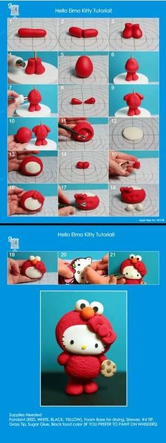 Hello kitty elmo tutorial by artsuneel