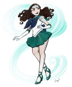 Moana as Sailor Neptune