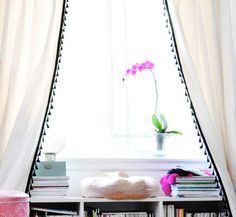 Best IKEA Hacks and DIY Hack Ideas for Furniture Projects and Home Decor from IKEA - DIY IKEA Hacked Curtain With Tassel Fringe - Creative IKEA Hack Tutorials for DIY Platform Bed, Desk, Vanity, Dresser, Coffee Table, Storage and Kitchen, Bedroom and Bathroom Decor http://diyjoy.com/best-ikea-hacks