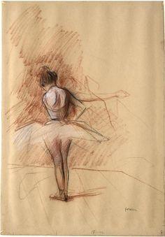 Jean Louis Forain - Danseuse vue de dos, Degas once said of Forain, & paints with his hands in my pockets. Jean Leon, Ballet Images, Dance Paintings, Art Music, Dance Music, Ballet Fashion, My Beautiful Daughter, Degas, White Chalk