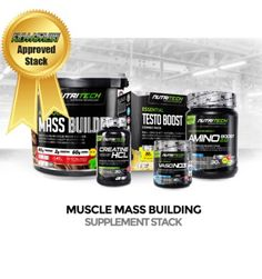 MUSCLE MASS BUILDING STACK - PREMIUM  @ http://fullhousenutrition.co.za/stacks/1466-muscle-mass-building-stack-premium.html