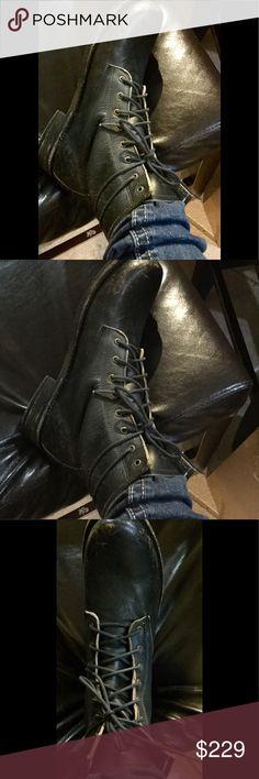 Freebird by Steve Charl combat boot black distrs Freebird by Steve Charl combat boot black distrs Steve Madden Shoes Combat & Moto Boots