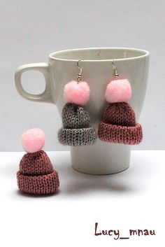 lucy_mnau / Náušničky a brošnička zimná čapica :)