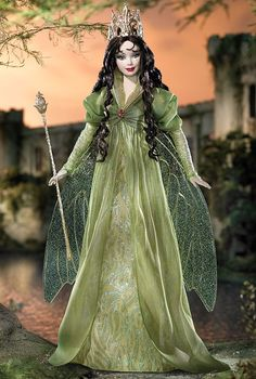 "2004 - World Culture - Legends of Ireland® - Faerie Queen™ Barbie® (brunette) (Toys""R""Us® Exclusive) #G7916"