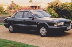 Mitsubishi Magna SE 2.6 litre four cylinder manual Sedan (1991 - 1997). We traded a 1985 Toyota Corona Avante on the Magna.