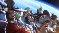 Download Overwatch Tracer Reinhhardt Torbjorn Mercy Genji McCree Winston 2560x1440