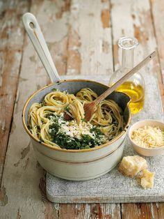 A speedy 20-minute linguine recipe is made with zesty lemons, fresh parsley, plenty of cheese and, if you like a kick, you can add a teaspoon of red chilli too.
