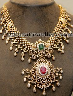 Classy Latest Diamond Bridal Set | Jewellery Designs
