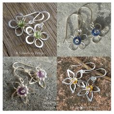 wire flower earring tutorials