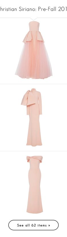 """""""Christian Siriano: Pre-Fall 2017"""" by livnd ❤ liked on Polyvore featuring ChristianSiriano, livndfashion, prefall2017, livndchristiansiriano, dresses, gowns, pink tulle gowns, pink gown, strapless dresses and tulle ball gown"""