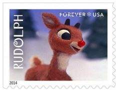 Rudolph the Red-Nosed Reindeer Christmas stamp