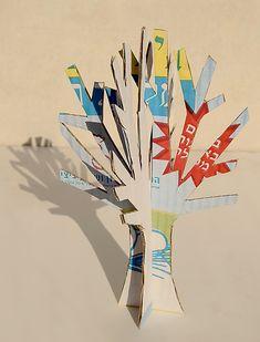 árbol cartón cardboard tree diy niños kids children miraquechulo