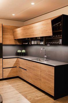 Modern Kitchen Cabinet Design, Kitchen Design Small, Kitchen Inspiration Design, Kitchen Modular, Kitchen Design Open, Kitchen Room Design, Kitchen Interior, Kitchen Furniture Design, Modern Kitchen Design