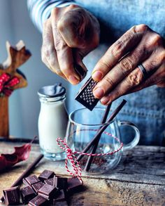 Christmas lights and ugly sweaters may get all the attention this winter, but hot chocolate is still one of our favorite winter treats! Winter Treats, Cocktails, Drinks, Christmas Lights, Hot Chocolate, Chocolates, Knowing You, Snacks, Cooking Ideas