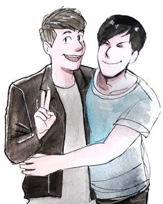 Watercolour doodle I did a bit ago. I can't remember where I saw the reference photo but I think it was from a meet up. #phanart #watercolour #donotrepost