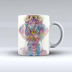 The Zendoodle Sacred Elephant ink-Fuzed Ceramic Coffee Mug from DesignSkinz