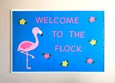 Flamingo Classroom Decor, Ready to Hang Bullein Board, Flamingo Classroom Bulletin Board, Flamingo Door Decoration, Flamingo Classroom Theme Mother's Day Gift Card, Birthday Gift Cards, Easy Bulletin Boards, Staff Appreciation Gifts, Christmas Classroom Door, Christmas Gift Card Holders, Classroom Themes, Future Classroom, Valentines For Kids