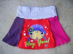 Maak je eigen urban rokje!    stap 1 Kies een goed zittend rokje dat je als uitgangspunt kunt nemen om een patroon te tekenen. Ik gebruikte ...