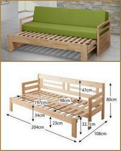 Ideas On Low To Build Furniture From Wooden Pallet Folding Furniture, Space Saving Furniture, Bed Furniture, Pallet Furniture, Furniture Design, Furniture Ideas, Outdoor Furniture, Diy Daybed, Diy Sofa