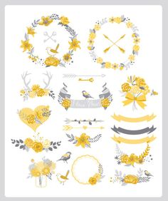 Vintage Design Elements 2, Digital Frame Clipart, Flourish Clip ...