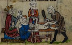 Detail from medieval manuscript, British Library Stowe MS 17 'The Maastricht Hours', f125r