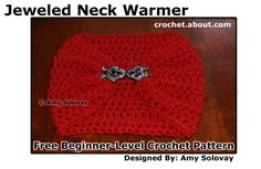Crochet 59 Different Scarves with These Terrific Free Patterns: Beginner's Easy Short Scarflette / Neck Warmer Pattern