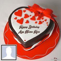 Create Romantic Birthday Cake For Boyfriend With Name Birthday