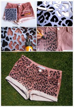 20 Diy Shorts For Crazy Summer, DIY Leopard Print Shorts!