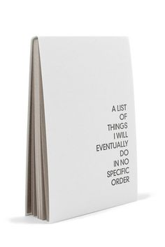 No Specific Order Notepad | mooreaseal.com
